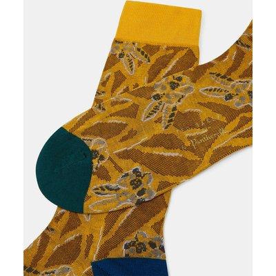 TED BAKER Socken Aus Baumwoll-jacquard Mit Floralem Print