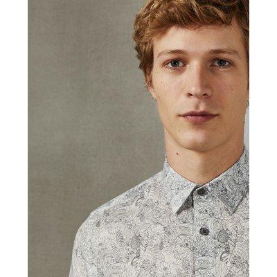 TED BAKER Baumwollhemd Mit Blatt-print