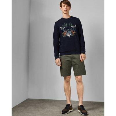 TED BAKER Bedruckte Chino-shorts