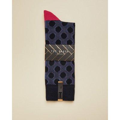 Spot Design Socks, Navy