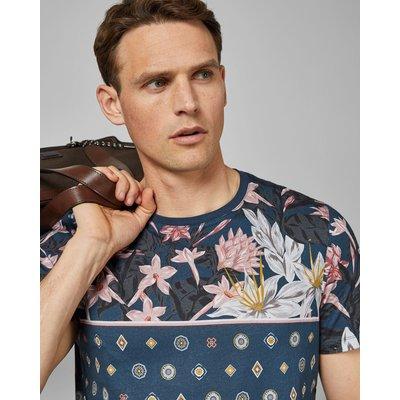 TED BAKER T-shirt Aus Baumwolle Mit Floralem Print