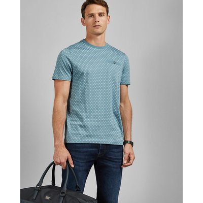 TED BAKER Baumwoll-t-shirt Mit Geo-print