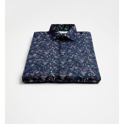 TED BAKER Cotton Endurance Feather Print Shirt