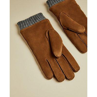 TED BAKER Handschuhe Aus Veloursleder Mit Bündchen
