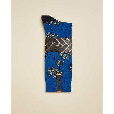 Cotton Blend Leaf Socks