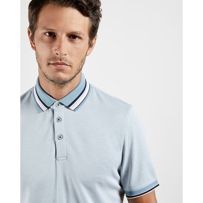 TED BAKER Stripe Collar Polo Shirt