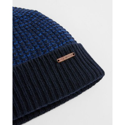 TED BAKER Two Tone Knitted Beanie Hat