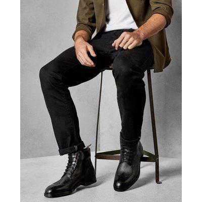 TED BAKER Stiefel Aus Leder Mit Schnürung Und Brogue-details