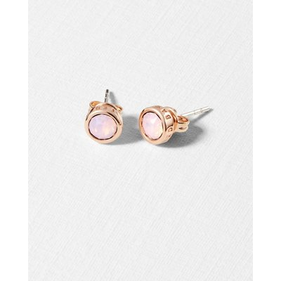Round Stud Earrings, Pink