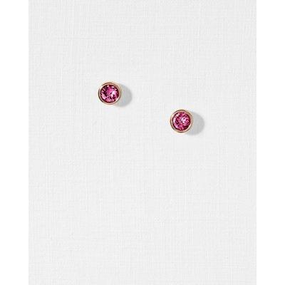 Round Stud Earrings, Mid Pink