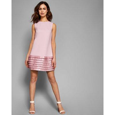 Satin Loop Shift Dress