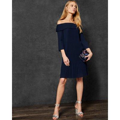 TED BAKER Bardot-kleid Mit Plissee