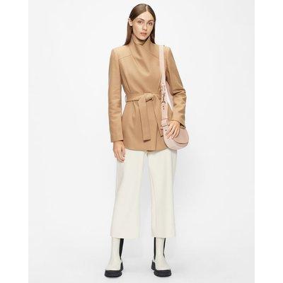 Short Wool Wrap Coat
