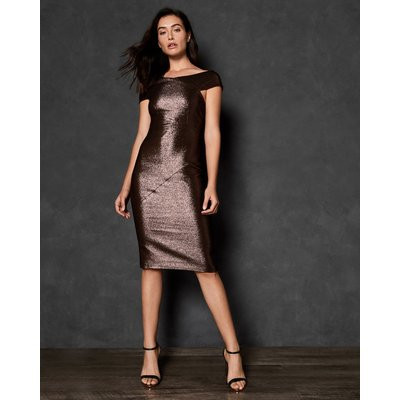 Midi Metallic Bodycon Dress