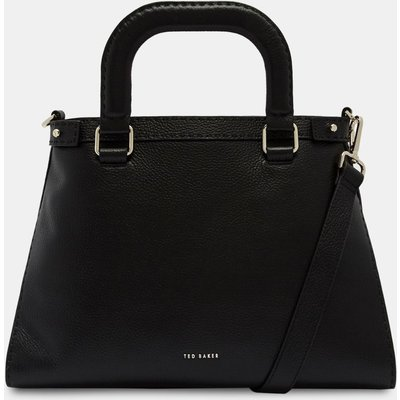 Padded Handle Leather Tote Bag
