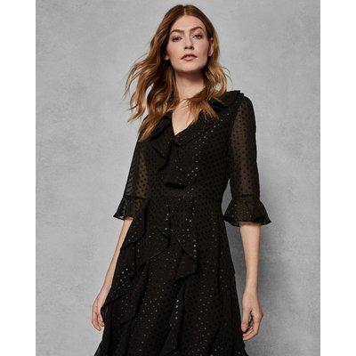 TED BAKER Kleid Mit Rüschen Und Trompetenärmeln