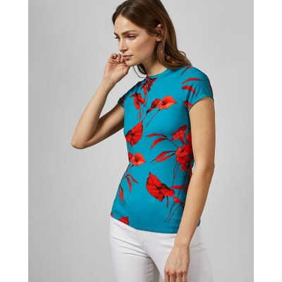 TED BAKER Tailliertes T-shirt Mit Fantasia-print