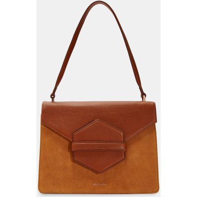 Leather And Suede Shoulder Bag