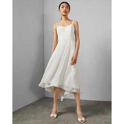 Daisy Dip Hem Pleat Midi Dress