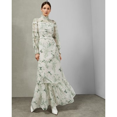 Fortune Lace Trim Maxi Dress