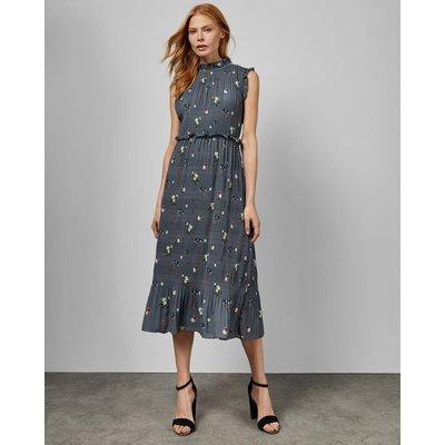Oracle Sleeveless Pleated Midi Dress