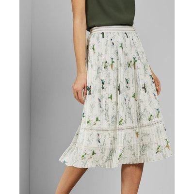 Fortune Pleated Midi Skirt