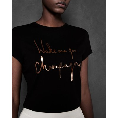"""TED BAKER T-shirt Mit """"wake Me For Champagne""""-slogan"""
