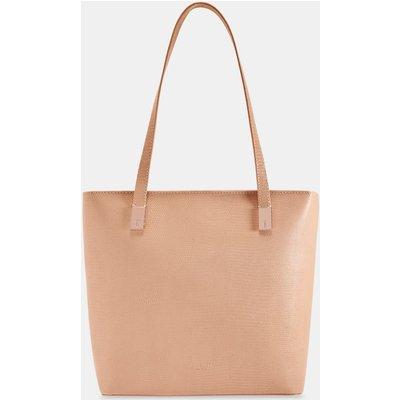 Leather Zip Shopper Bag