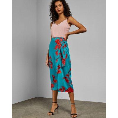 Fantasia Split Hem Midi Skirt
