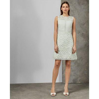 A-line Geo Lace Dress