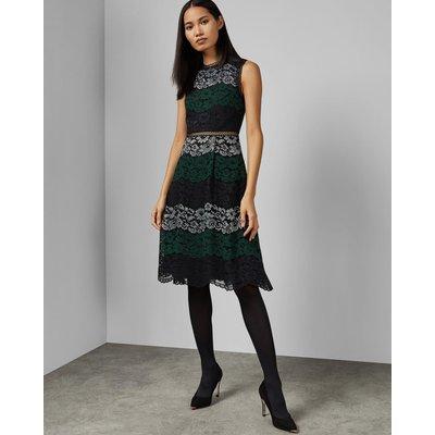Colour Block Lace Dress