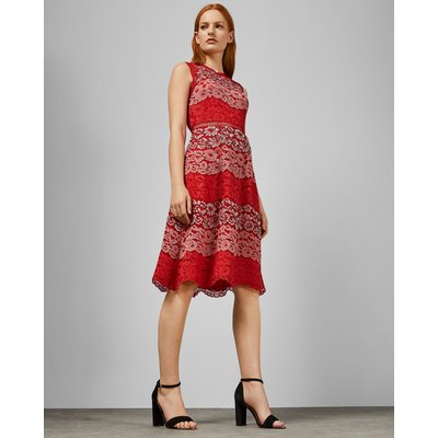 Colour Block Lace Dress