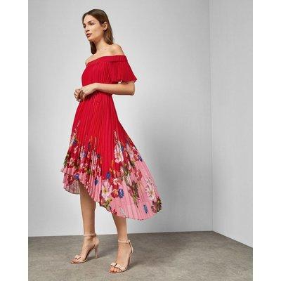 Berry Sundae Bardot Dress