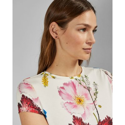 TED BAKER Tailliertes T-shirt Mit Berry Sundae-print