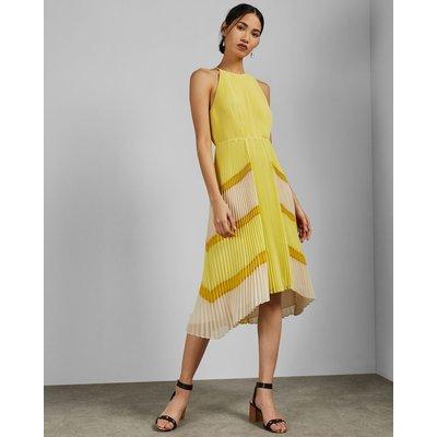 Dip Hem Pleated Dress