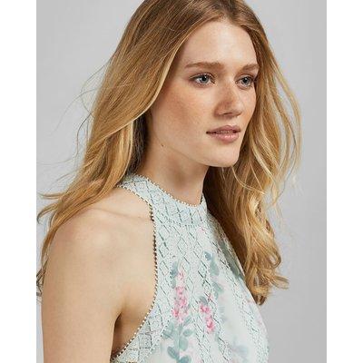 Sorbet Lace Insert Midi Dress