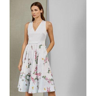 Full Skirted Cotton Dress