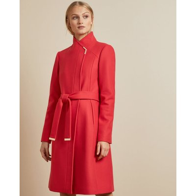 Long Belted Wrap Coat