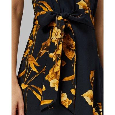TED BAKER Asymmetrisches Kleid Mit Fantasia-print