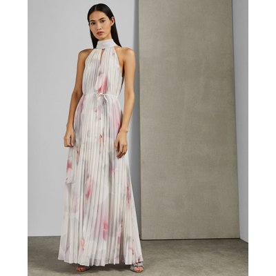 Cotton Candy Pleated Maxi Dress