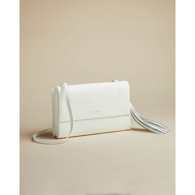 Leather Tassel Detail Cross Body Bag