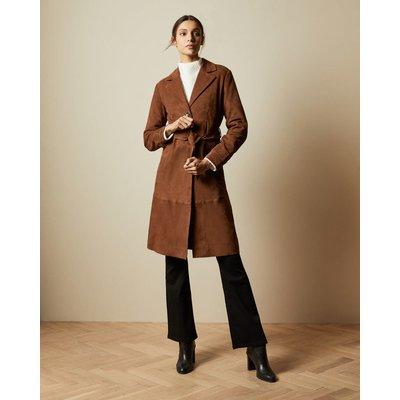 Suede Belted Coat