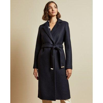 Buttoned Wrap Coat