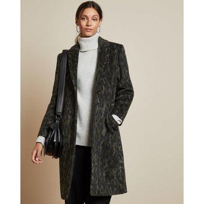 Leopard Print Cocoon Coat