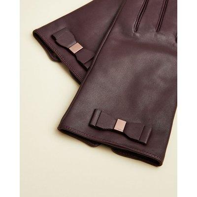 TED BAKER Lederhandschuhe Mit Schleifendetail
