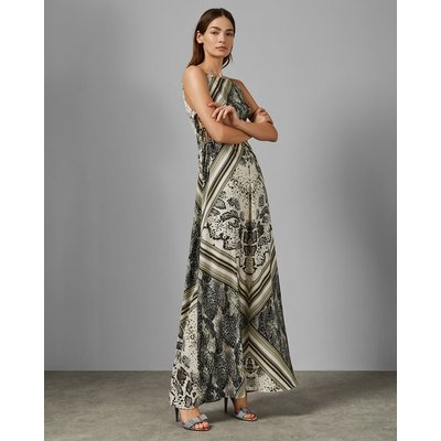 Snakeskin Side Split Maxi Dress