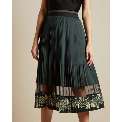 Meadow Sweep Pleated Layered Midi Skirt