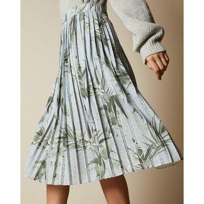 Highland Jersey Pleated Midi Skirt