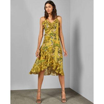 Royal Palm Frill Dress