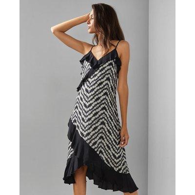 Ruffle Detail V Neck Dress